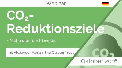 Webinar CO2 Reduktionsziele