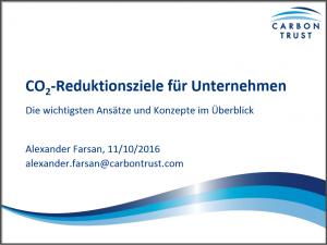 Thumbnail PDF Präsentation CO2 Reduktionsziele