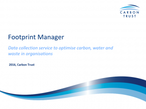 Link to the Presentation of the Carbon Trust Footprint Manager